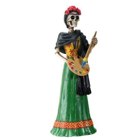 Frida Kahlo Skeleton Painting Day of the Dead Dia de Los Muertos Figurine