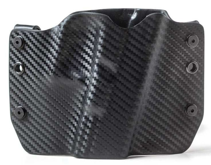 Outlaw Holsters: Black Carbon Fiber OWB Kydex Gun Holster for Glock 17,19,22,23,25,26,27,28,31,32,34,35,41, Right... by Outlaw Holsters