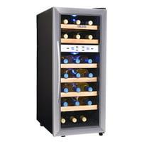 NewAir Silent Wine Cooler 21 Bottle Dual Zone Freestanding Fridge, AW-211ED Stainless Steel