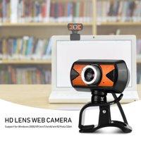 YLSHRF 360 Degree Rotation USB2.0 Webcam 16M Pixel HD Web Camera With External Digital Microphone, HD Web Camera External Digital Microphone, Computer Camera