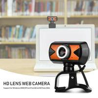 LHCER 360 Degree Rotation USB2.0 Webcam 16M Pixel HD Web Camera With External Digital Microphone, PC Camera, Computer Camera