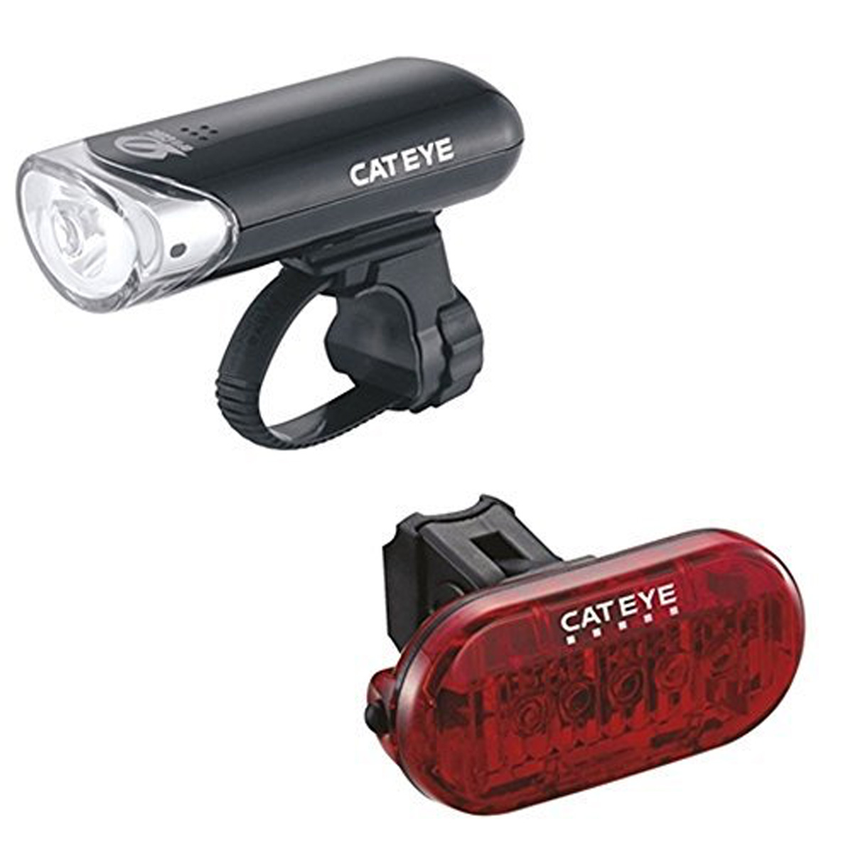 CatEye HL-EL135N Bicycle Headlight /OMNI 5 TL-LD155 RED Bicycle Taillight Set  - 5358500