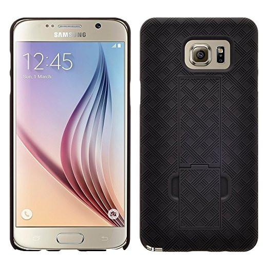 Galaxy S6 Edge Plus Case with Belt Clip Shell Holster Combo for Galaxy S6 Edge Plus - Black
