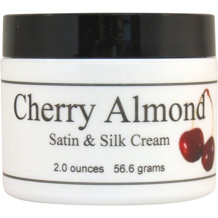 Cherry Almond Satin and Silk Cream, Body Cream, Body Lotion, 2 oz Body Lotion Cherry Almond