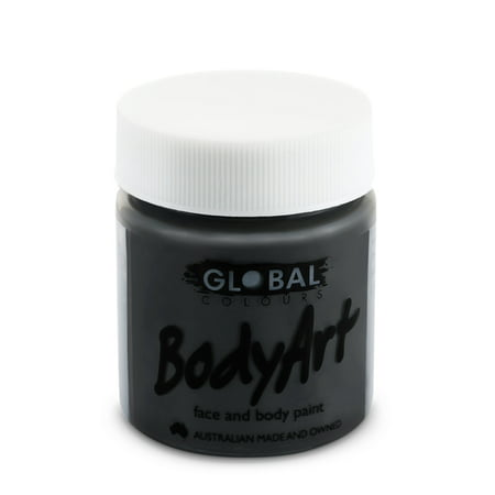 Best Halloween Face Paint Brand (Global Body Art Face Paint - Liquid Black (45 ml/1.5)