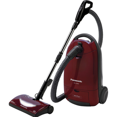 Panasonic Canister Vacuum Cleaner, Burgundy, MC-CG902