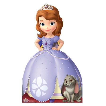 Disney Sofia The First Life Size Cutout Stand Large Cardboard Cutout Party Prop Decor Birthday party Supplies, Disney Birthday decoration Size: 45