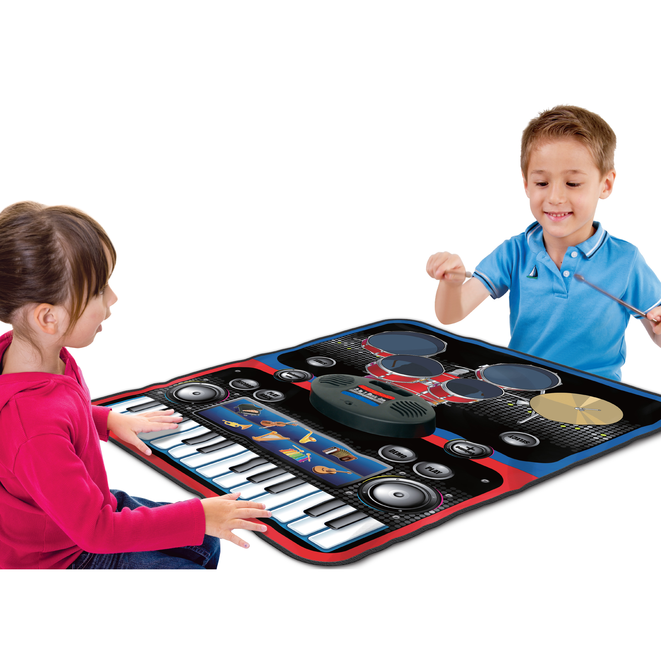 Best Choice Products Kids 2 IN 1 Play Together Musical Play Mat with Drums and Keyboard by Best Choice Products