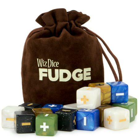 Wiz Dice 20 Fudge Dice GM Starter Pack, Terrestrial, 5 Sets of 4 Fate