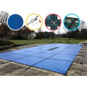 WaterWarden Solid Safety Pool Cover for In Ground Pools, With Center Drain Panel