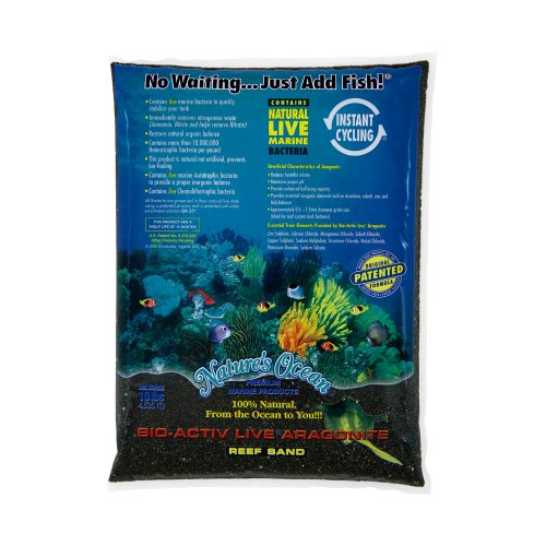 Natures Ocean Bio Activ Live Aragonite Reef Sand Black Beach - 20 lbs - (Grain Size 0.5-1.5 mm)