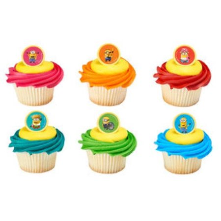 24 Despicable Me 3 Mayhem Cupcake Cake Rings Birthday Party Favors - Party City Near Me