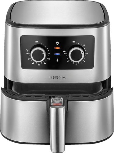 Insignia™ - 5-qt. Analog Air Fryer - Stainless Steel