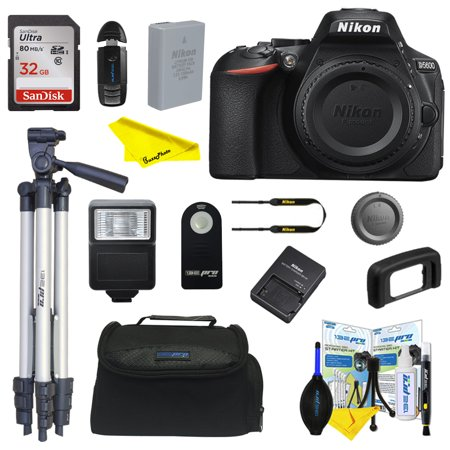 Nikon D5600 DSLR Digital Camera(Body only) + Buzz-Photo Intermediate kit with 32 GB Card