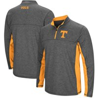 Tennessee Volunteers Colosseum Milton Windshirt Quarter-Zip Pullover Jacket - Heathered Charcoal