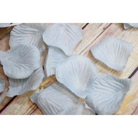 Bulls Silk - Quasimoon Gray / Grey Silk Rose Petals Confetti for Weddings in Bulk by PaperLanternStore