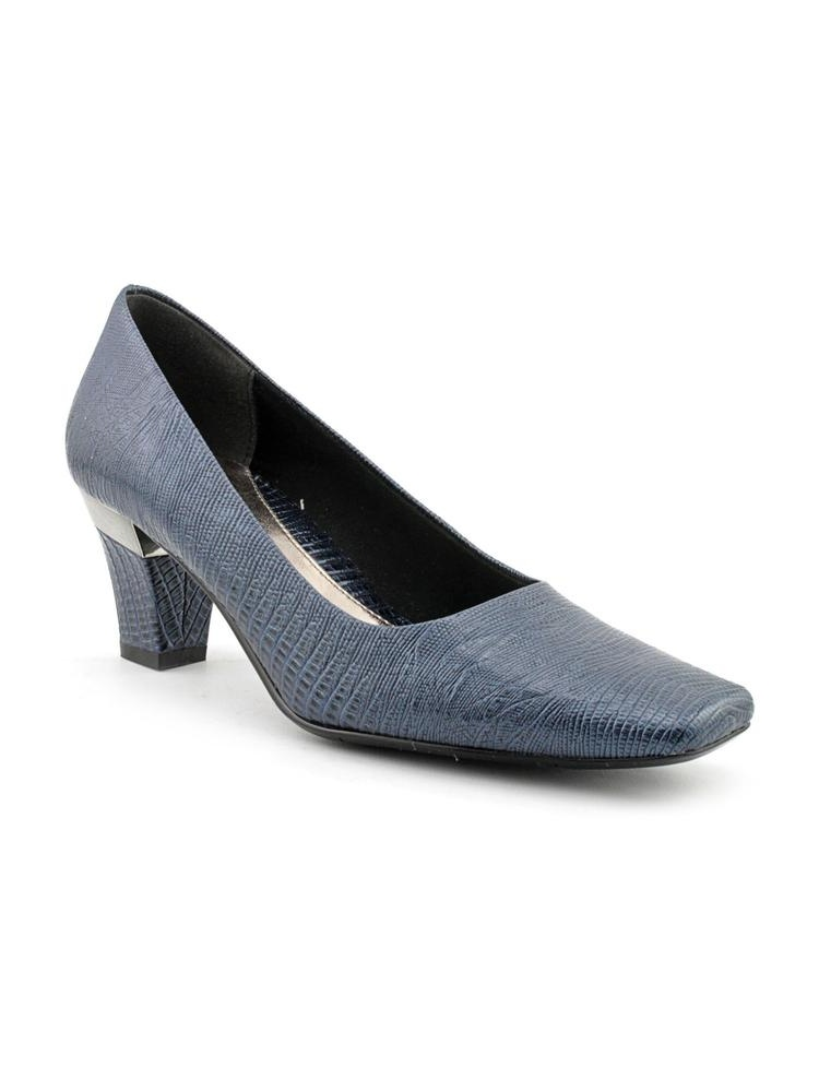 J. Renee Mary Women N S Square Toe Synthetic Blue Heels by J. Renee