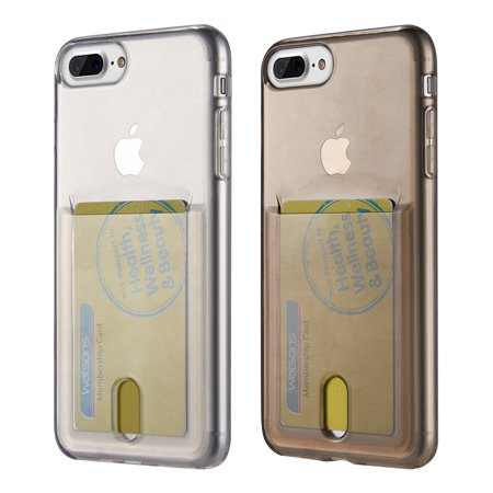 Iphone 8 / 7 Plus Id Card Display Tpu Transparant Crystal Skin Case (Id Display)