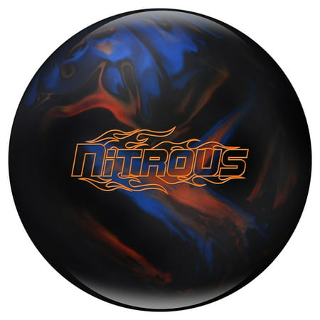 Nitrous Bowling Ball- Black/Blue/Bronze- - Dragon Ball Bowling Ball