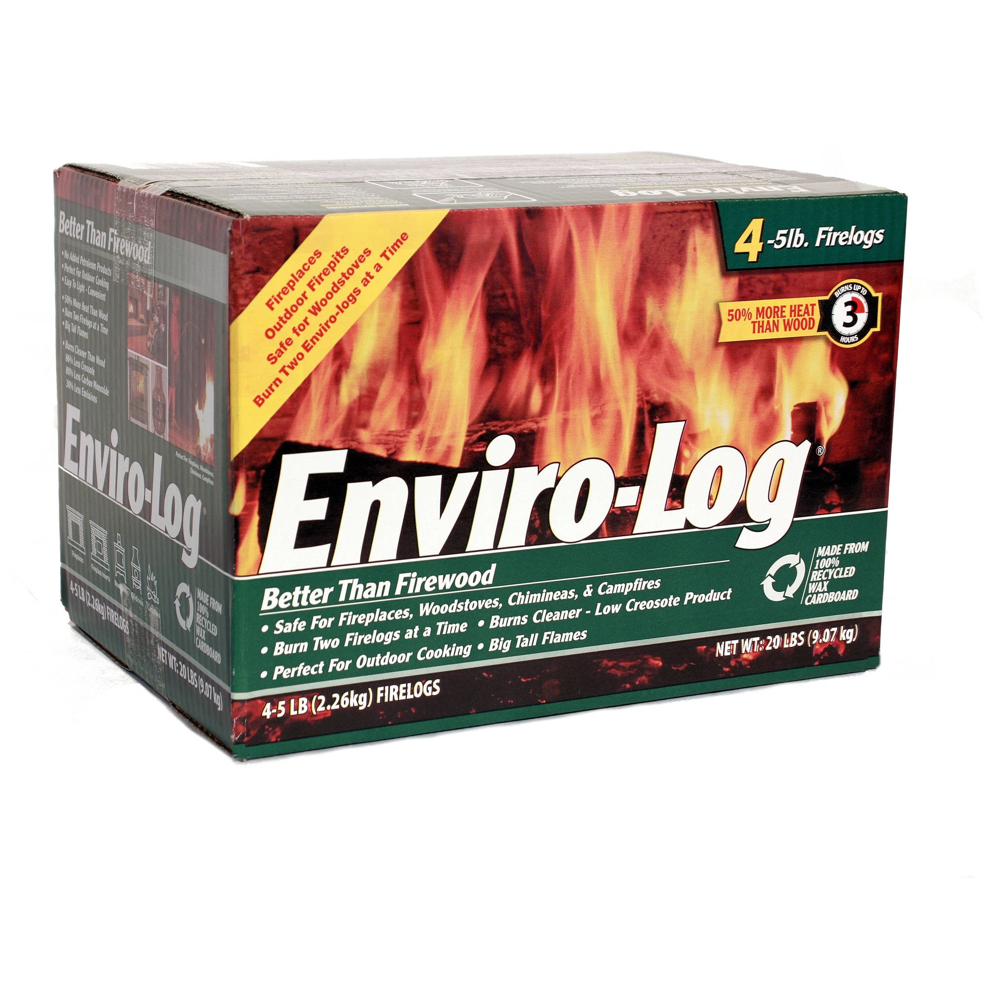 Enviro-Log 4 Pack/5 lb. Firelog Case