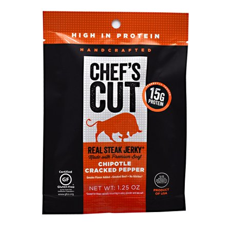 Cut Steaks (Chef's Cut Real Jerky Real Steak Jerky Chipotle Cracked Pepper - 1.25 oz )