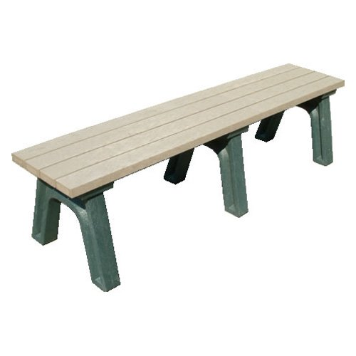 Polly Products Deluxe Recycled Plastic Flat Bench