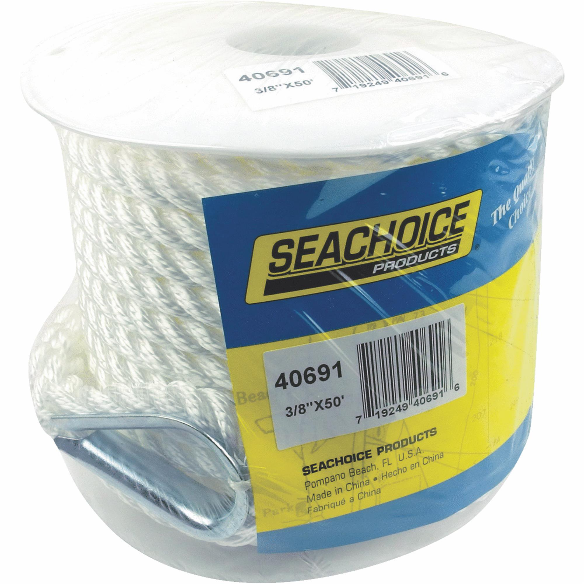 Click here to buy Seachoice 3-Strand Twisted Nylon Anchor Line, White by Seachoice Products.