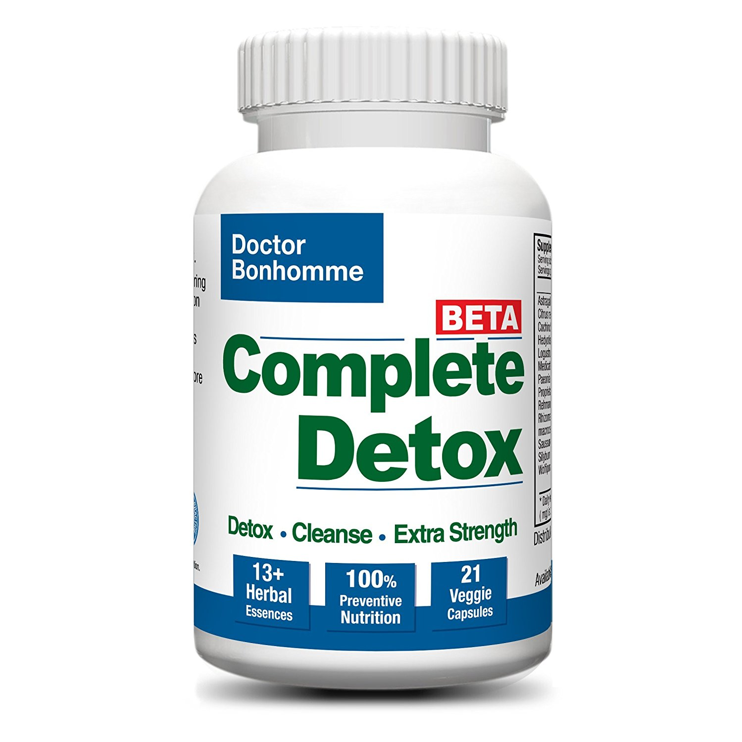 Complete Detox [BETA Formula ]7 day 21 Caps ? Accelerated whole body detox with laxative for most thorough cleanse