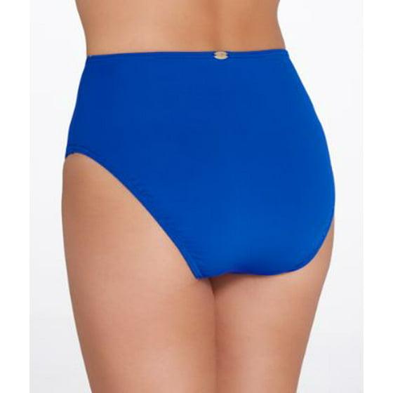 aad83586b36 Sunsets - Sunsets Ultra Blue High-Waist Bikini Bottom - Walmart.com
