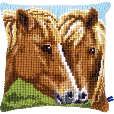 Horse Cross Stitch - Horses Cushion Cross Stitch Kit, 15.75