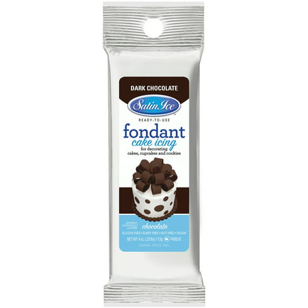 Satin Ice Packaged Fondant 4oz Chocolate (Satin Ice Rolled Fondant)