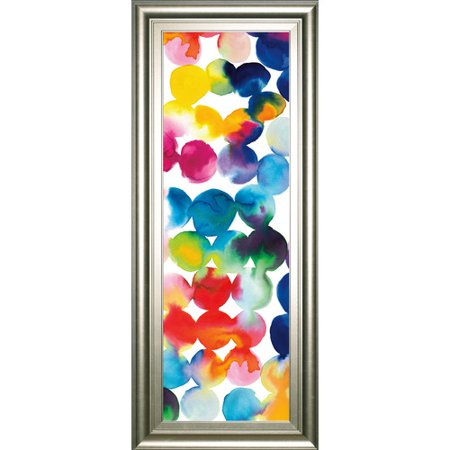 Classy Art Wholesalers 'Bright Circles III' by Wild Apple Portfolio Framed Graphic Art (Craft Wholesalers)