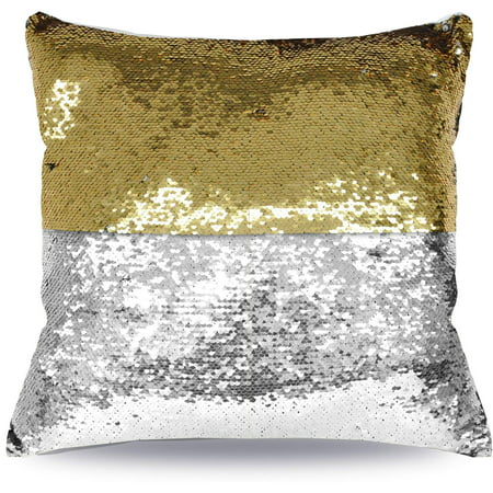 Mainstays Reversible 17?x17? Sequin Sparkle Pillow