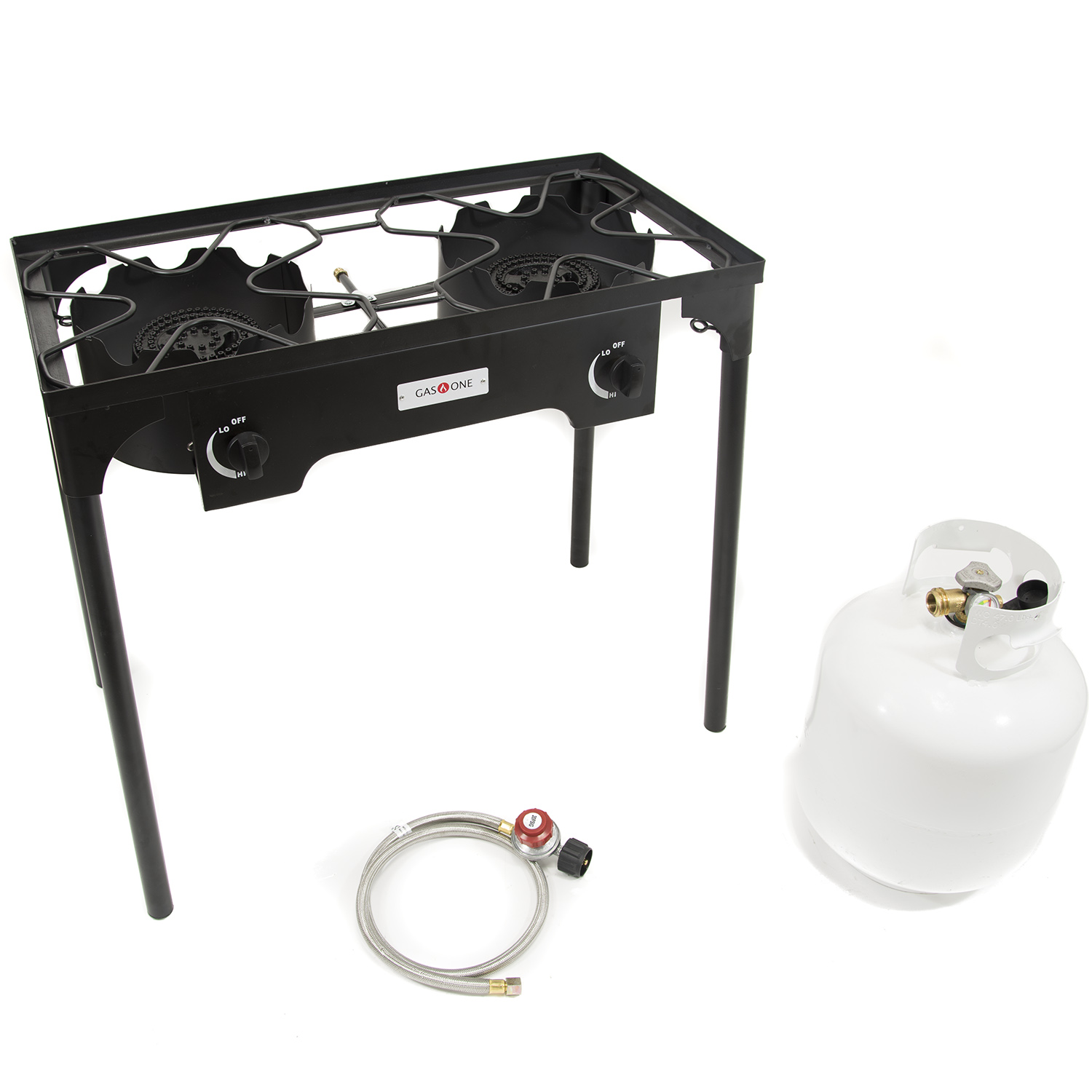 Gas One Double Burner Gas Propane Cooker Outdoor Camp Stove, BBQ Grill