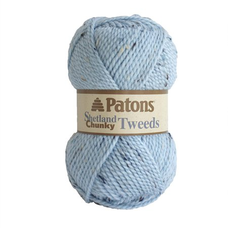 Shetland Chunky Yarn, Sea Ice Tweed, Perfect for both adults and children By Patons Ship from US