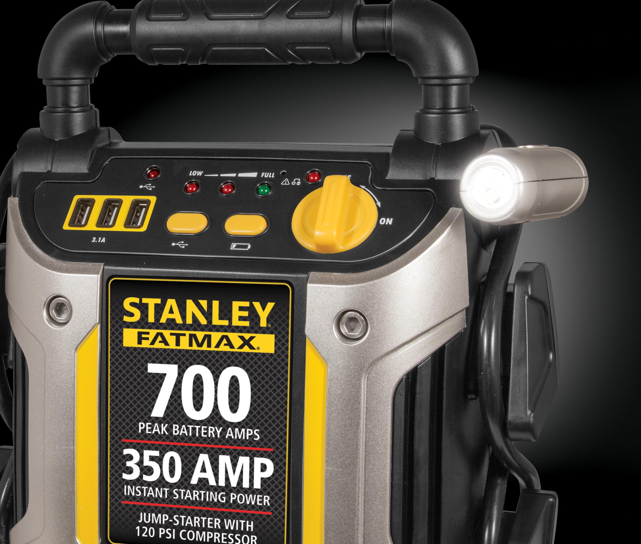 Stanley Fatmax 700 Amp Peak Jump Starter With Compressor J7cs