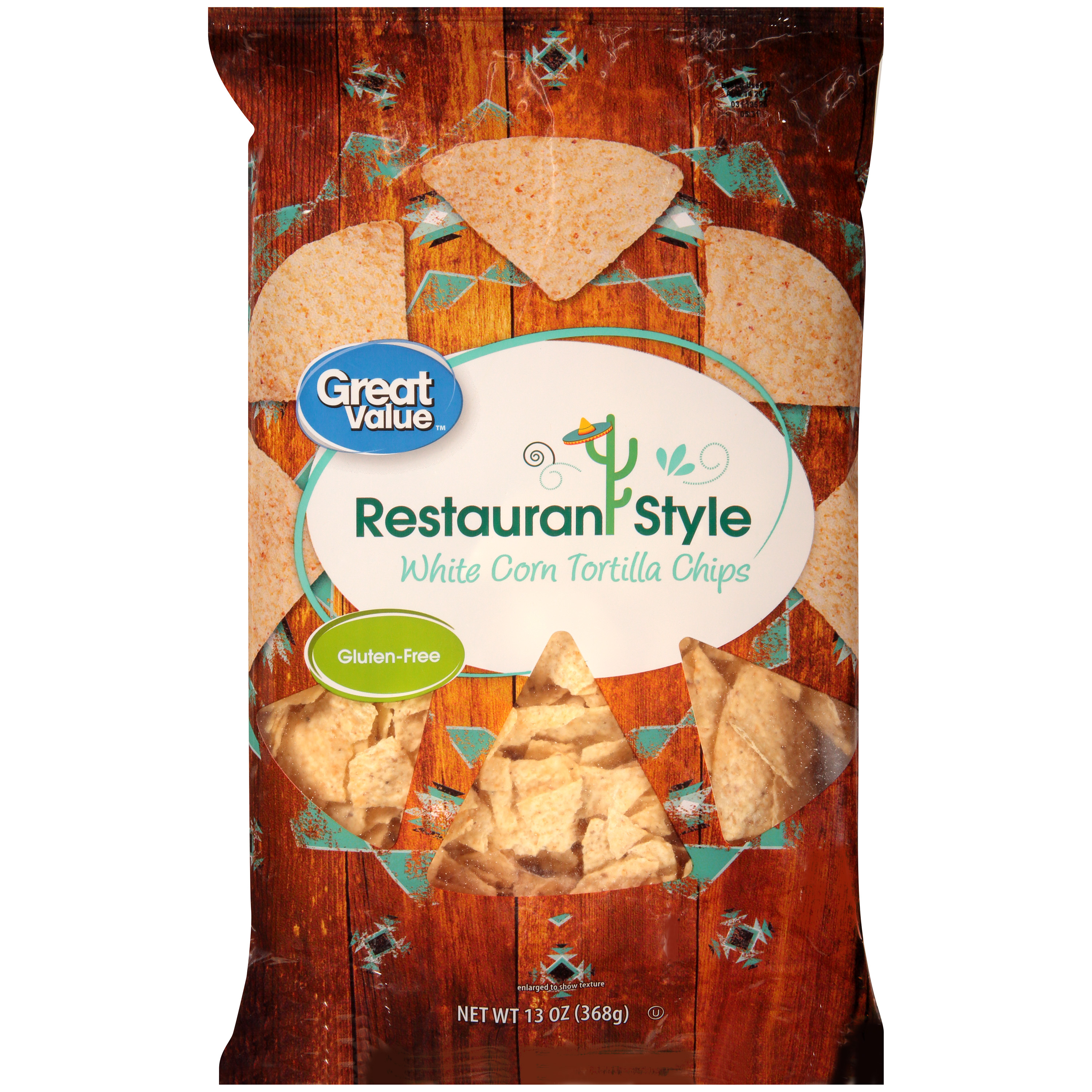 Great Value Restaurant Style White Corn Tortilla Chips 13 Oz