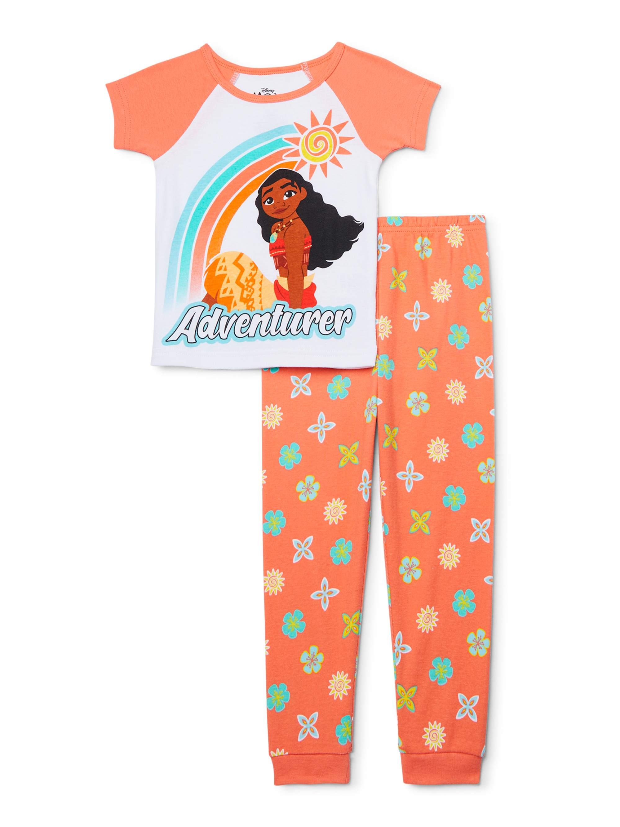 Disney Moana Girls 2-Piece Pajamas