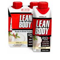 Labrada Lean Body Vanilla Protein Shake, 8.45 Fl. Oz., 4 Count
