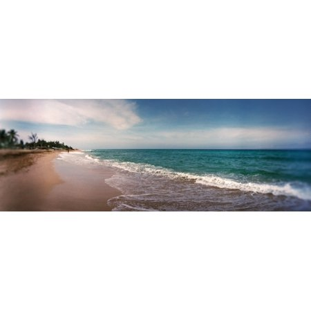 Scenic View Of Beach Against Cloudy Sky Santa Maria Del Mar Beach Havana Cuba Poster Print