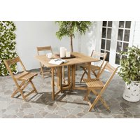 Safavieh Arvin Outdoor Modern Foldable 5 Piece Living Set