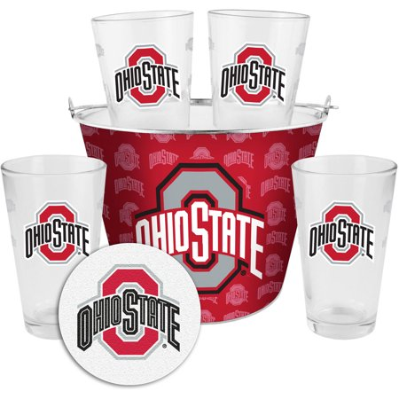 Boelter Brands NCAA Gift Bucket Set, Ohio State University Buckeyes](Ohio University Stars Halloween)
