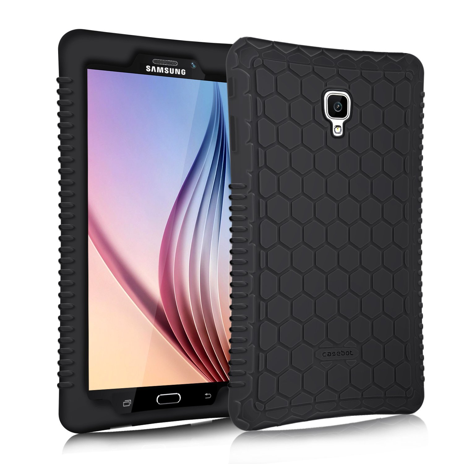 Fintie Samsung Galaxy Tab A 8.0 2017 Case, [Anti Slip] [Kids Friendly] Light Weight Shock Proof Silicone Cover Black
