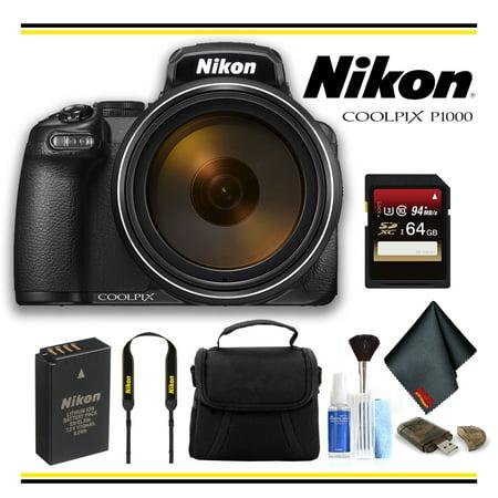 Nikon COOLPIX P1000 Digital Camera Starter Bundle - (Intl