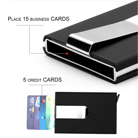 Magnetic business card holder arts arts anti static id credit card holder case magnetic box with colourmoves