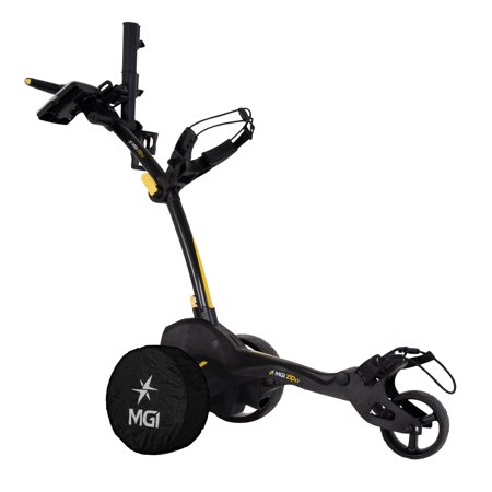 MGI Zip X1 Lithium Battery Electric Golf Push Cart Swivel Wheel Caddie, Black