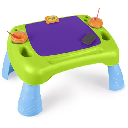 Crayola Paint N Draw Activity Table + Crayola 6 Ct Washable Kids Paint