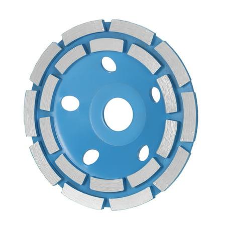 "125mm 5"" Diamond 2 Row Segment Grinding Wheel Disc Bowl Shape Grinder Cup 22mm Inner Hole for Concrete Granite Masonry Stone Ceramics Terrazzo Marble Building Industry - image 7 de 7"