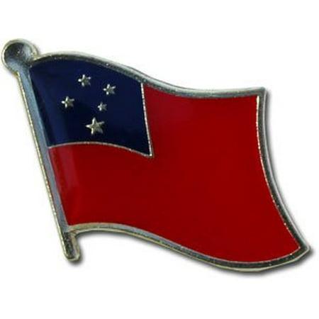 (Samoa Flag Lapel Pin)