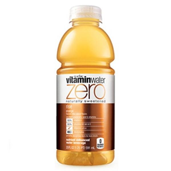 Vitamin Zero Rise Orange 20 oz Plastic Bottles Pack of 24 by